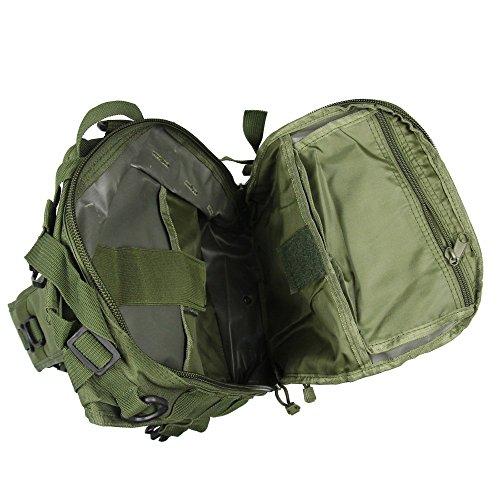 Airsson Tactical Military Schulter Sling Tasche Brustpack Tasche Rucksack Molle Large Wasserdichte Daypack für Outdoor Travel Camping Wandern Trekking Olivgrün