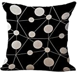 Best Linen Store Furniture Couches - Black and White Geometric Printed Stuffed Cushion LivebyCare Review