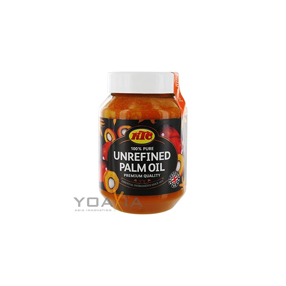 Ktc Unrefinded Palm Oil 500ml Becher Unraffiniertes Palml