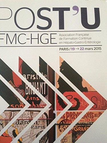 POST'U association Française de formation Continue en Hépato-Gastro-Entérologie mars 2015