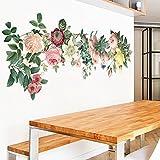 Decorazioni della camera, adesivi floreali, studio camera da letto soggiorno adesivo parete60 x 90cm