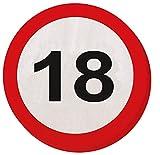 18. Geburtstag 20Papier Servietten Verkehrsschild Alter Party