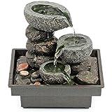 Pajoma 18430.0 - Fontanella da interni con pietre, in poliresina, 25 cm