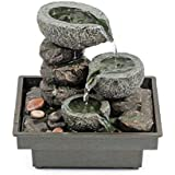 """Pajoma 18430 Zimmerbrunnen """"Floating Stones"""", aus Polyresin, Höhe 25 cm"""