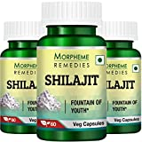 Morpheme Remedies Shilajit 500 mg Extract Supplements (60 Capsules) - Pack Of 3