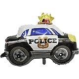 Großer Folienballon * POLIZEI * für Kindergeburtstag oder Motto-Party// JUNIOR SHAPE // Folien Ballon Helium Deko Ballongas Polizeiauto Police