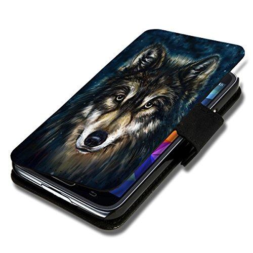 Book Style Flip Handy Tasche Case Schutz Hülle Schale Motiv Etui für LG L Fino - Flip 1A38 Design12