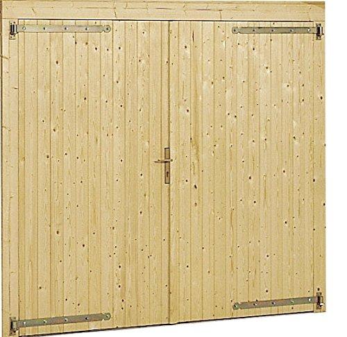 Portone per garage - box auto in legno da giardino 3054/3454 gartenpro