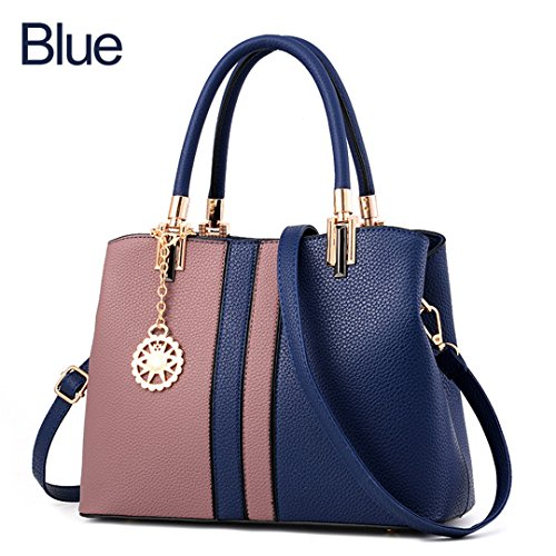 Sac Sacs à main Sacs à main en cuir pour femmes main dure en gros bon marché sac bandoulière bandoulière Bolsas une femelle bleu834 approximativement 30cm 13cm 23cm