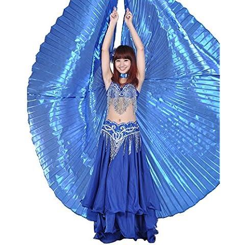 Dance Fairy egalo de Halloween Arte oscuro Danza del vientre azul Isis Alas espectáculos