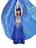 Dance Fairy Danza del Vientre Alas de Isis, Azul real (Sin varillas)
