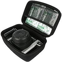 Khanka EVA Borsa Custodia da viaggio caso per Fujifilm Instax 300 Wide Fotocamera Istantanea / Fujifilm Instax 210 Wide Fotocamera Istantanea. Fits Fujifilm Instax WIDE FILM 10 F. 2 Pack - Nero
