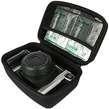 Khanka Duro EVA Viaje Estuche Bolso Funda Case para Fujifilm Instax 300 cámara instantánea / Fujifilm Instax 210 Cámara analógica instantánea. Fits Fujifilm Instax Wide - Película fotográfica instantánea (2 x 10 hojas) - Negro
