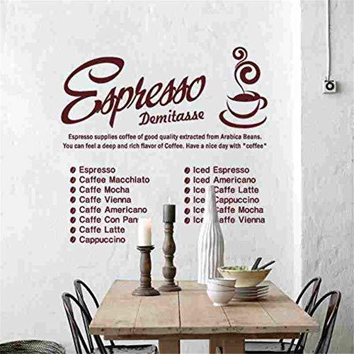 wandaufkleber 3d Kaffee-Aufkleber-Nahrungsmittelabziehbild-Café-Plakat-Kunst-Dekor für Kaffeestube -