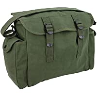 Mens Army Combat Military Haversack Shoulder Canvas Man Travel Bag Surplus New (Green) 3