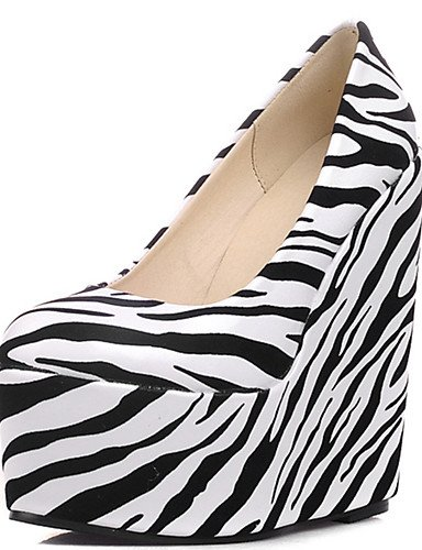 WSS 2016 Chaussures Femme-Habillé / Décontracté / Soirée & Evénement-Noir / Rouge / Blanc-Talon Compensé-Compensées / Talons / A Plateau / Bout red-us5.5 / eu36 / uk3.5 / cn35