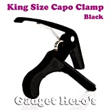 #10: Gadget Hero's King Quick Change Capo Clamp For Electric & Acoustic Guitar Tirgger Key