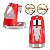 Express Teekocher, Wasserkocher für 1 Becher (200ml) kochendes Teewasser in nur 45 Sekunden rot