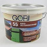 Gori 55 Rapid-Wetterschutzfarbe 3165 Ocker, 2,50 Liter