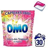 Omo Lessive Capsules 2en1 Fleurs des Tropiques et Magnolia