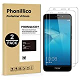 PHONILLICO [Pack de 2] Verre Trempe Huawei Honor 5C - Film Protection Ecran Verre Trempe [Lot de 2] Vitre Ecran Protecteur Anti Rayure sans Bulle d'Air Dureté 9H Ultra Mince Transparent