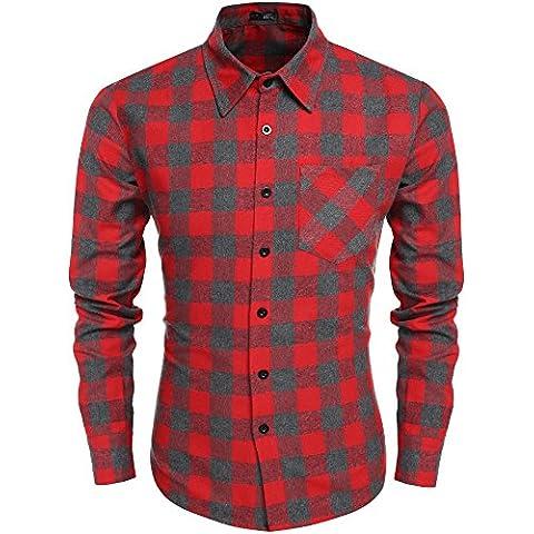 Coofandy Shirt da uomo a maniche lunghe