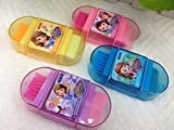 #9: Cute Newest Imported 3-IN-1 Pencil Sharpener/Eraser/Brush School Stationary for Kids/B'day Return Gifts- Pack of 12 Pcs./lot