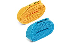 Poplaces, Bright Blue & Orange Twin Pack. 2 x Pairs of 'No tie' shoe laces from Popband. 90cm x 9mm
