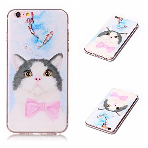 Qiaogle Telefon Case - Weiche TPU Case Silikon Schutzhülle Cover für Apple iPhone 6 / iPhone 6S (4.7 Zoll) - LF08 / Fuck You LF04 / Cute Katze