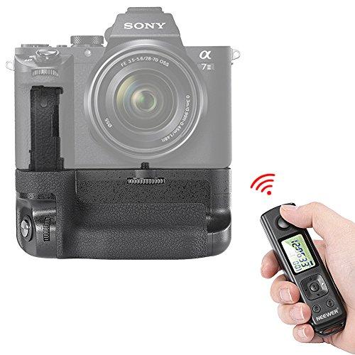Neewer® LCD 2,4 GHz Funk Fernbedienung Pro Batterie Griff Ersatz für VG-C2EM mit Bildschirmsperre Funktion Kompatibel mit NP-FW50 Akku für Sony A7 II und A7R II Kameras
