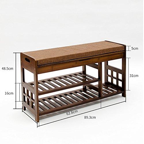 Natürliche Bambus Für Den Schuh Hocker Einfache Sofa Hocker Haushalt  Lagerung Schuhe Hocker Nanzhu Schuhschrank ( Größe : 90cm )
