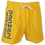 Panzeri - Uni a jaune jersey short - Shorts multisports - Jaune - Taille M