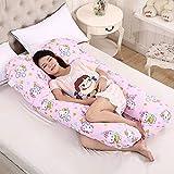 OurLeeme Cuscini per Gravidanza, Forma U Cuscino per Il Sonno Completo per Il Corpo Cuscino maternità per L'Allattamento Cuscino Ultra Morbido con Rivestimento sfoderabile (112 x 60 cm, Rosa)
