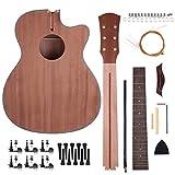 Caiyuangg®40 Pouces DIY Kit de Guitare Folk Acoustique Bois Sapele Cadeau à Amis/Famille