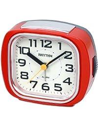 Rhythm Super Silent Alarm Clock Red 9.8x8.3x4.0 Cm