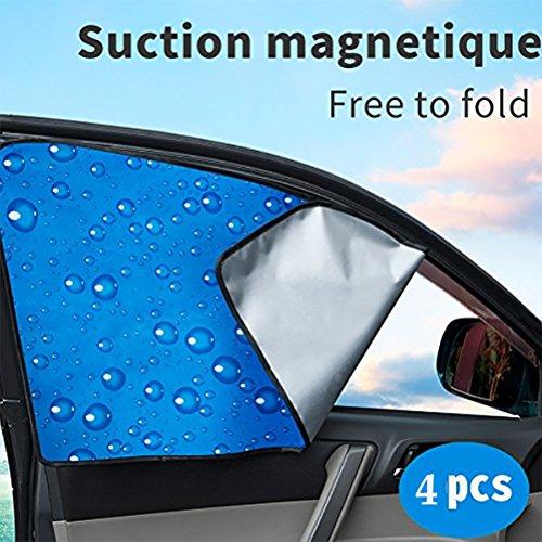 SUAIBEI Auto Sonnenschutz, Hinten Vorne Fenster Schatten Seitenfenster Sonnenschirm Baby 4Pcs