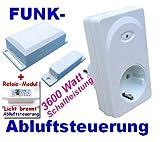Funk-Abluftsteuerung 3600 W plus Lichtmodul weiß