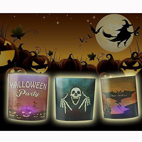 Hunpta 1 PC Dekorative Party Schlafzimmer KTV Cartoon Halloween Tisch Nacht Flach Mund Licht (multicolour) (Cartoon Handschuhe Kostüm)