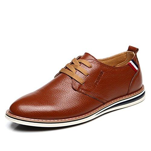 Printemps de chaussures occasionnelles/Chaussures lacéesd'Angleterre/Chaussures connectés-A Longueur du pied=23.8CM(9.4Inch)