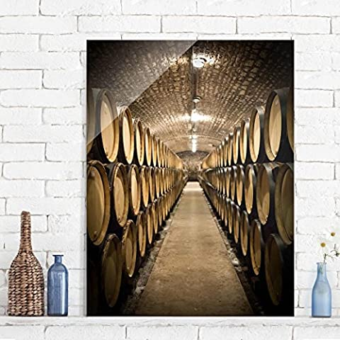 Quadri in vetro - Wine cellar - Alto 4:3, quadri da parete, decorazioni murali, decorazioni, vetro, stampa su vetro, quadri in vetro per pareti, quadri in vetro da par, Dimensione: 100cm x 70cm