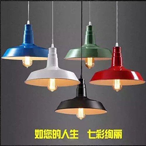 BGmdjcf Multi-Coperchio Colorato Loft Vento Industriale ,E27 Lampadario Illuminazione , Poiché La Superficie Interiore Nero