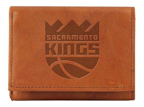 Rico NBA Sacramento Kings geprägtes Leder Trifold Wallet, Tan, 12,7x 7,6cm (Tri-fold Leder Embossed)