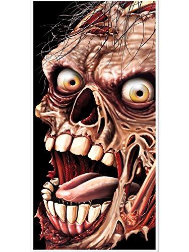 Décoration de porte Zombie Halloween - taille - Taille Unique - 228066