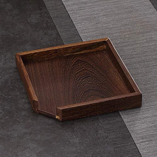 CYGJLYZ Tablett Bambus Teetablett Teezubereiter Pu'er Tee Kuchen Schwarztee Teetablett Tee-Set Teezeremonie Zubehör (Color : A, Size : 22 * 3.5cm) -