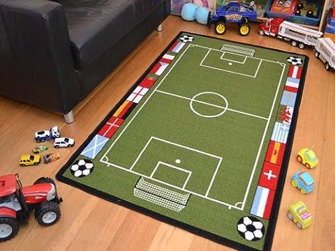 Tapis de jeu Grand terrain de football pour enfant Dimensions: 80x120cm, Vert, 80 x 120cm