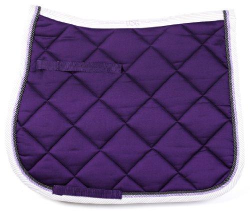 united-sportproducts-germany-usg-58739-tapis-de-selle-en-coton-polyvalent-pur-sang-demi-sang-violet-