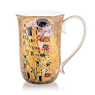 Coffee Cup with Art ' The Kiss ' by Gustav Klimt