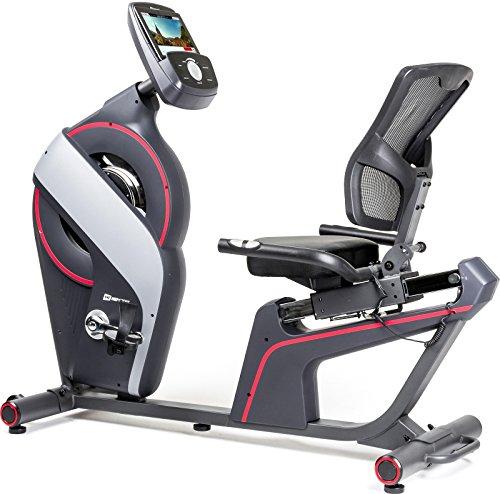 Hop-Sport Liegeheimtrainer HS-200L Dust mit iConsole+ Sitzheimtrainer Sitzergometer 18 kg Schwungmasse 12 Trainingsprogramme Benutzergewicht bis 150kg