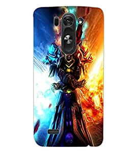 ColourCraft Flaming Warrior Design Back Case Cover for LG G3 BEAT