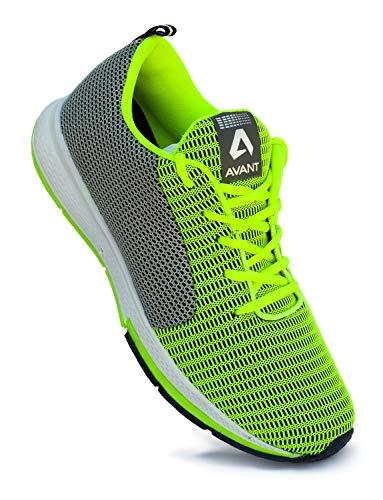 Avant Men's Lightweight Running and Walking Shoes - Parrot Green/Grey, UK 7